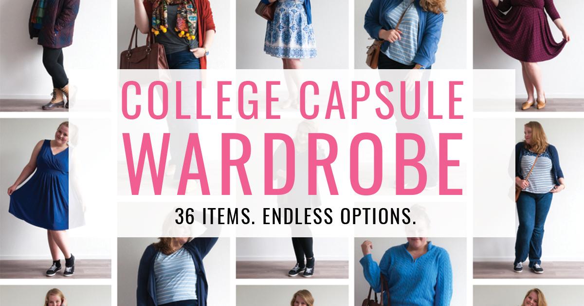 college capsule wardrobe 36 items endless options collegecapsulechallenge. Black Bedroom Furniture Sets. Home Design Ideas